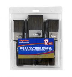 Supadec Decorators Dozen 12 Pc Contractors Brush Set 12 Pack