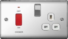 Bg Polished Chrome Dp Switch 13A Socket 45A