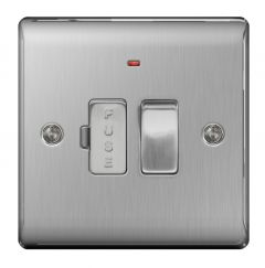 Bg Brushed Steel Switched Fused Connection Unit 13A