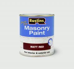 Rustins Masonry Paint 250Ml Red