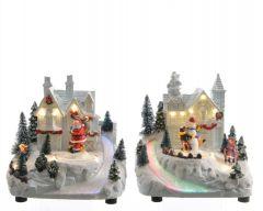 Led House With Fibre Optics Warm White