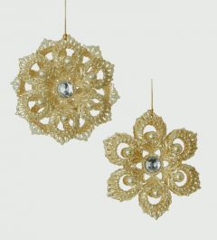Champagne Gold Gitter Flower Decoration