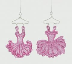 Pink Glitter Ballet Dress Decoration