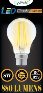 Lyveco Bc Clear Led 8 Filament 880 Lumens Gls Dimmable 2700K 8 Watt