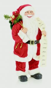 Standing Santa With List