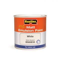 Rustins Matt Emulsion 250Ml White