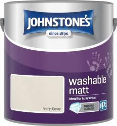 Johnstone's Washable Matt 2.5L Ivory Spray