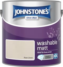 Johnstone's Washable Matt 2.5L Raw Linen