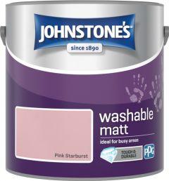 Johnstone's Washable Matt 2.5L Pink Starburst
