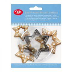 Tala Plain Star Cutters (Set Of 3)