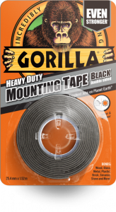 Gorilla Heavy Duty Double Sided Mounting Tape 1.5M Black