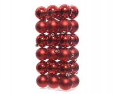 Shatterproof Baubles - 60Mm Mixed Pack 36