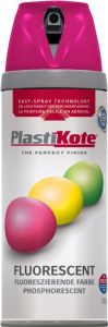 Plastikote Fluorescent Spray Paint Pink - 400Ml