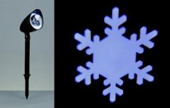 Path Light Projector Snowflakes Wht Led