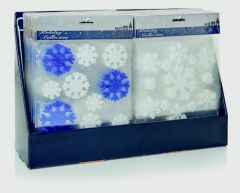 Gel Snowflake Windowstickers Blue-White