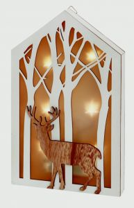 White House With Reindeer Hanger