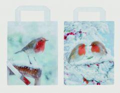 Snowy Robin Foldaway Shopping Bag