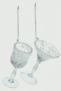 Acrylic Wine Glass Decoration