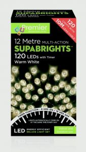 Multi-Action Supabrights With Timer Warm White