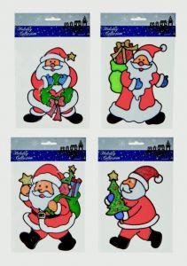 Santa Window Clings In Cdu