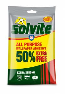 Solvite All Purpose Wallpaper Adhesive 3 Roll + 50% Free