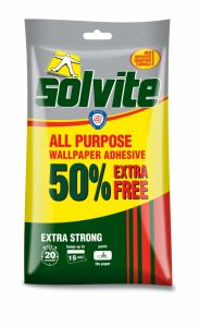 Solvite All Purpose Wallpaper Adhesive 10 Roll Plus 50%