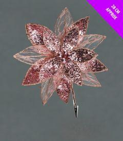 Sequin Net Clip Flower
