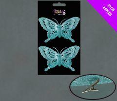 2 Glitter Butterflies