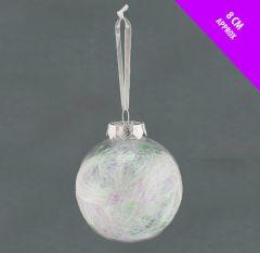Clear Lametta Bauble