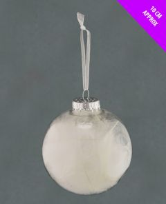 Clear Feather Bauble