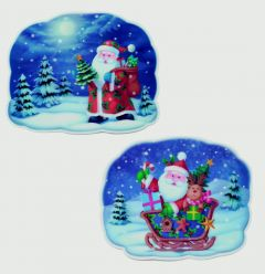 2 Assorted 3D Santa Image