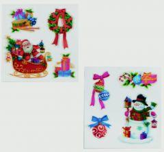 2 Assorted 3D Santa Image