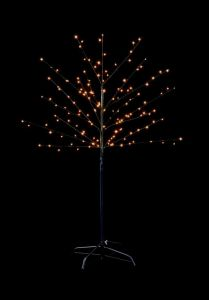 150 Led Black Birch Tree