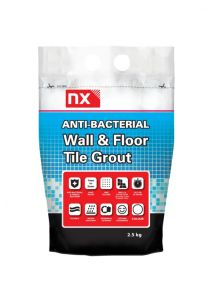 Norcros Anti Bacterial Wall & Floor Tile Grout 2.5Kg Midnight Coal
