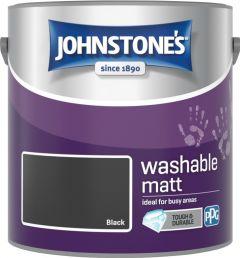 Johnstone's Washable Matt 2.5L Black