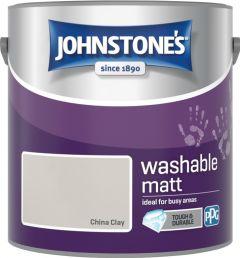 Johnstone's Washable Matt 2.5L China Clay