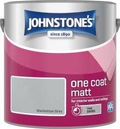 Johnstone's One Coat Matt 2.5L Manhattan Grey
