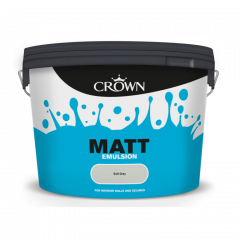 Crown Non Breath Easy Matt Emulsion 10L Soft Grey