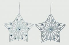 Glitter Jewel Star 22Cm