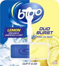 Bloo Duo Burst Toilet Rim Block Lemon 40G