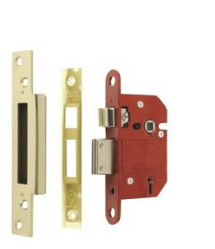 Era Fortress 5 Lever Mortice Sashlock Brass 63Mm