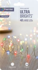 40 Led Indoor Ultrabrights With Timer
