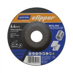 Norton Clipper Metal Grinding Disc 115Mm X 6Mm