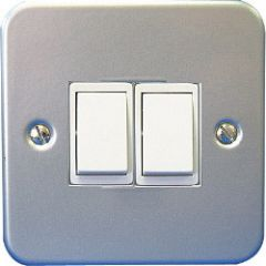 Dencon 2 Gang 2 Way Switch Pre-Packed
