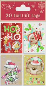 20 Teddy Booklet Tags