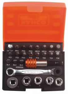 Bahco Bit Set With Bits Sockets Bit-Ratchet And Adapters