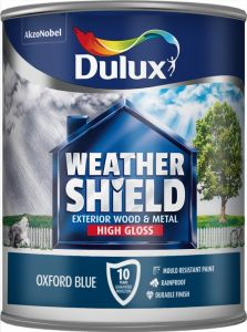 Dulux Weathershield Exterior Gloss 750Ml Oxford Blue