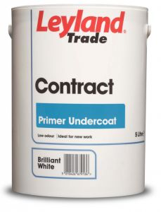 Leyland Trade Contract Acrylic Primer Undercoat 5L Brilliant White