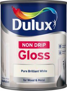 Dulux Non Drip Gloss 750Ml Pure Brilliant White