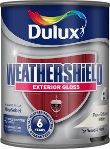 Dulux Weathershield Exterior Gloss 750Ml Pure Brilliant White